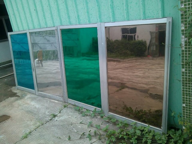 silver insulation window film stickers solar reflective one way mirror blue green tan width 100