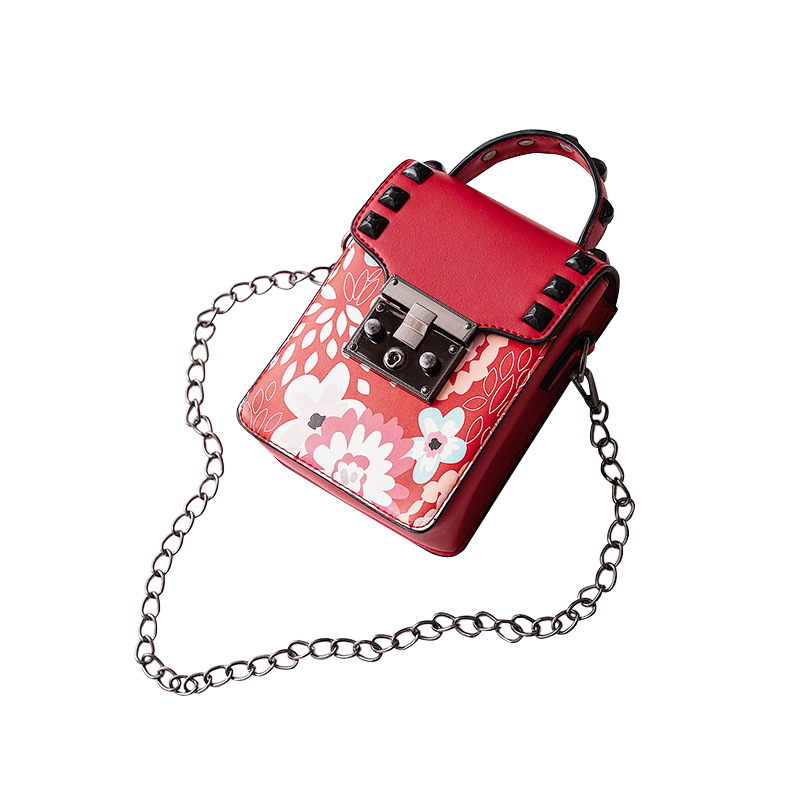 New Fashion Luxury Designer Womens Messenger Bag Flap Lock Flowers Prints Chains Strap Shoulder Bag Sac Bolsas Ladies Handbags