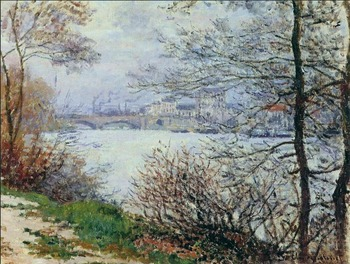 High quality Oil painting Canvas Reproductions The Banks of the Seine, Ile de la Grande-Jatte (1878 By Claude Monet hand painted