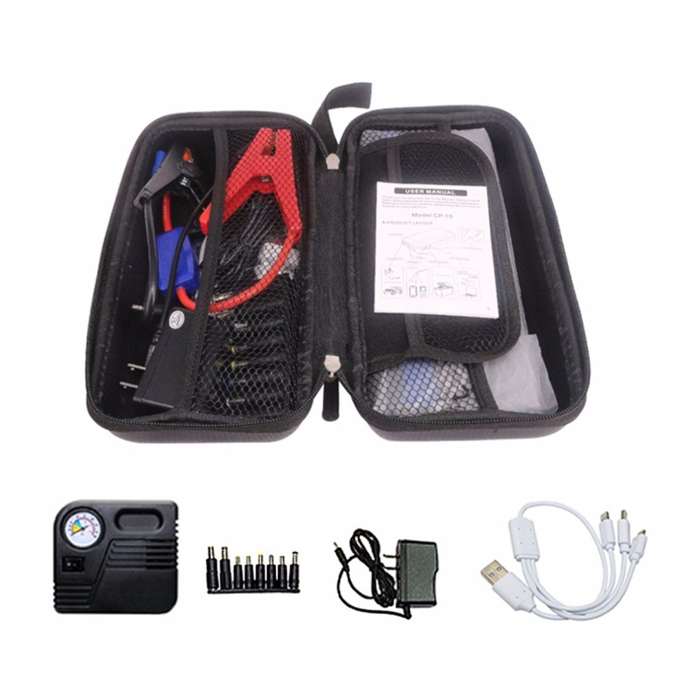 12V 82800mAh Dual USB Output Car Jump Starter Portable Car Charger With Flash Light Battery Power Bank Emergency Power Supply dual usb output universal thunder power bank portable external battery emergency charger 13000mah yb651 yoobao for electronics