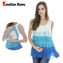 Hot wholesale Free shipping sleeveless Chiffon soft and comfortable maternity nursing clothes