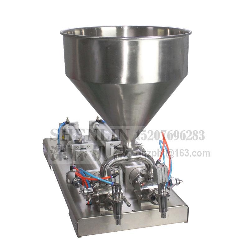 Kochen öl füllung maschine abfüllung füllstoff große volumen lebensmittel grade verpackung ausrüstung werkzeug doppel düse 5000 ml riss füllstoff