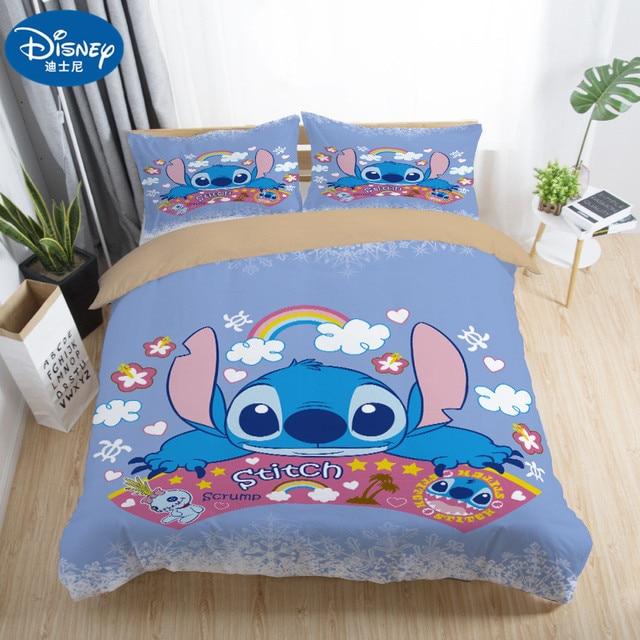 Bonito ponto impresso conjunto de cama têxtil casa dos desenhos animados único gêmeo completo rainha king size conjunto crianças menino menina quarto presente