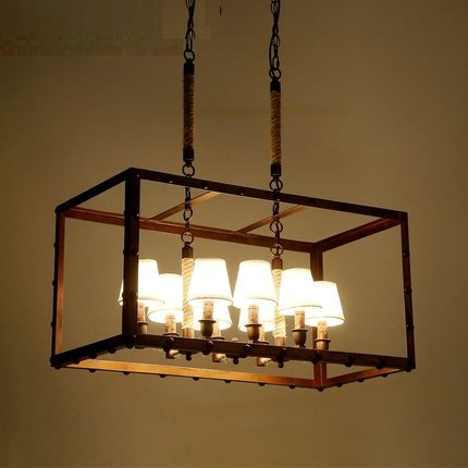 Loft Style Iron Rope Droplight Industrial Vintage Pendant Lamp Dining Room Lampshade LED Hanging Light Fixtures Indoor Lighting retro loft style iron cage droplight industrial edison vintage pendant lamps dining room hanging light fixtures indoor lighting