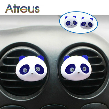 2Pcs Car Air Freshener Car Outlet Perfume Cute Panda Eyes For Peugeot 307 206 407 Citroen C4 C5 Honda Civic Accord CRV Lada image