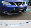 ACCESSORIES FIT FOR 2014 2015 2016 NISSAN QASHQAI CHROME FRONT LOWER MESH GRILL GRILLE COVER TRIM GUARD MOLDING