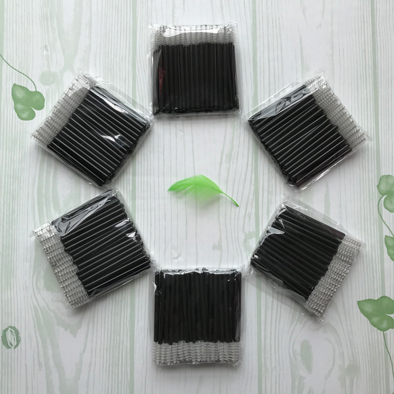 Mini 50pcs White Disposable Mascara Brush Make Up Brushes Micro Disposable Eyelash Extension Applicator