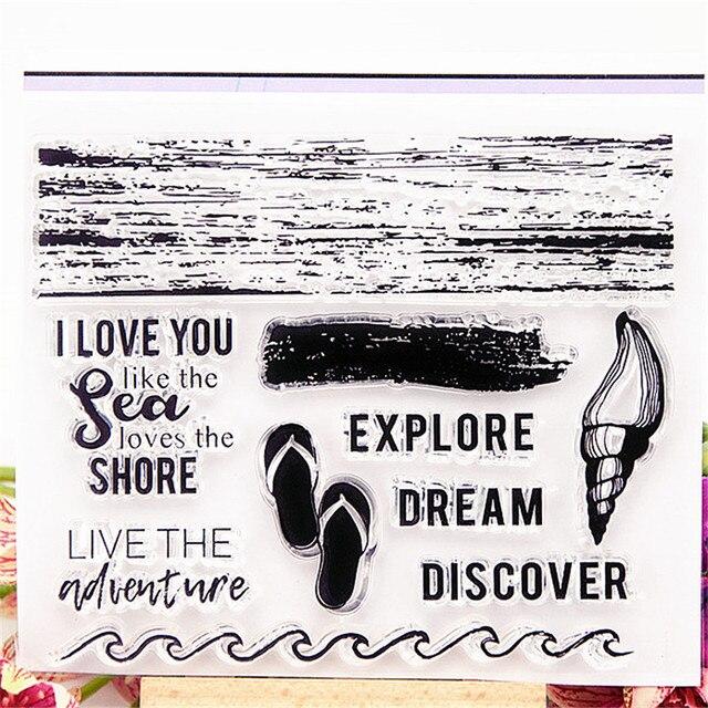 Joint Silicone En Rouleau rouleau en caoutchouc plage pantoufles transparent timbre clair