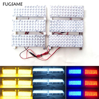 FUGSAME 6*48 288 LED Car Vehicle Auto Warning Blinking Strobe Flash Emergency Lights Lightbar Deck Dash LIGHTS 12V