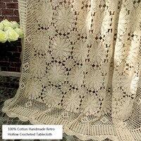 100% хлопок ручной крючком выдалбливают дизайн прямоугольник скатерти стирать износостойкий декоративные подушки ткань для дивана