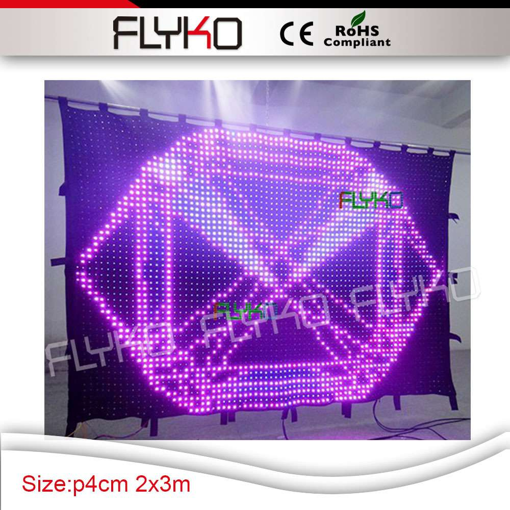 2x3M sex movies display led video curtain for stage backdrop led video curtain display image
