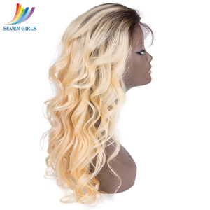 Image 3 - Sevengirls 360 Lace Frontal Wigs Brazilian Loose Wave Ombre 2#/613 Color Human Hair Wigs With Baby Hair For Women Free Shipping