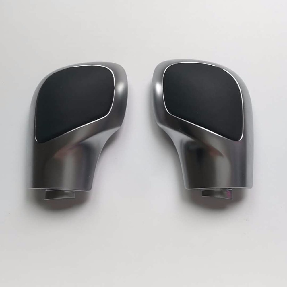 ELISHASTAR Chrome Leather DSG Shift Knob Gear Side Cover For VW Golf 6 7 R GTI Passat B7 B8 CC R20 Jett