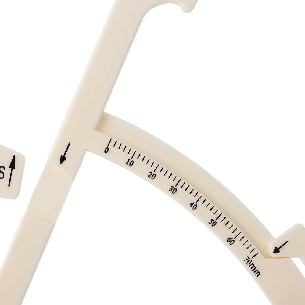 70mm Persoonlijke Lichaamsvet Remklauw Huidplooi Huid Vouw Tester Gezondheid Keeper Fitness Meting Tool