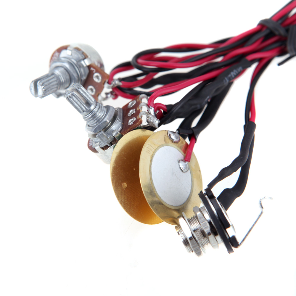 Acoustic Guitar Ukulele Pickup Homeland Dual Piezo Pick Up Jack Wiring 635mm With Volume Tone Control Top Quality In Parts Accessories From Sports