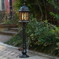 Garden lights outdoor lamp lawn lamp brown lighting for garden aluminium+glass waterproof street lamps for garden 110V/220V