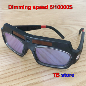Image 2 - TX 012 Solar energy Automatic dimming Welding glasses Double layer rapidly Lightening goggles welding gas cutting Safety goggles