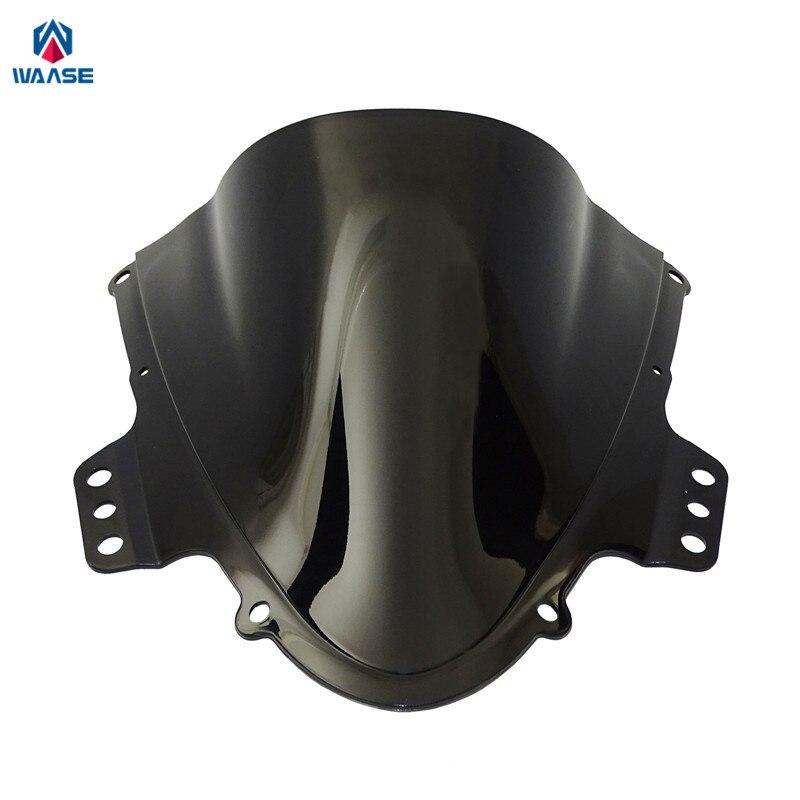 Waase Motorcycle Double Bubble Windscreen Windshield Shield Screen For Suzuki GSXR1000 GSXR 1000 K5 K6 2005 2006