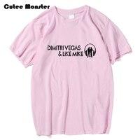 Dimitri Vegas Y Como Mike camiseta Rusia Música Banda de Smash la Casa Letra Impresa Tops de Los Hombres de Manga Corta de Hip Hop Camisetas ropa