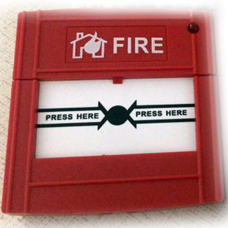 Conventional Manual Call Point  Fire Alarm System Conventional Panel Accessories  2-wire   Button