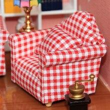 1:12 Dollhouse muebles de Sala de estar Sofá Sillón de Muñeca para Jugar Juguetes para niños Juguetes y Pasatiempos