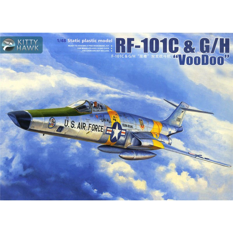 Kitty Hawk KH80116 1 48 RF 101C G H Voodoo Scale Model Kit