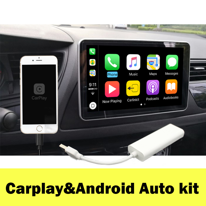 Mini Carplay Dongle For IOS Phone Using Carplay in Android Car Multimedia Player Connect by USB Support Touch and Voice Control