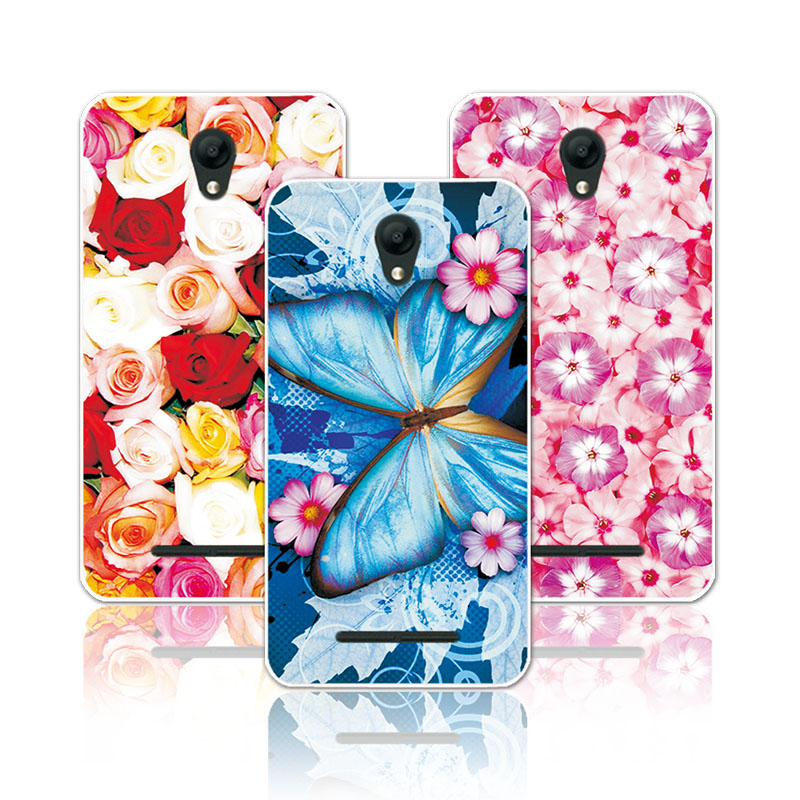 For ZTE L110 4.0 Floral Art Painted Flower Soft Silicone Phone Case For ZTE Blade L110  A110 Cover funda For ZTE L 110 A 110
