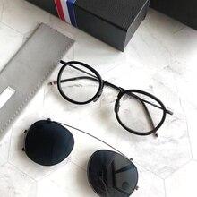 Новинка, модные круглые солнцезащитные очки на застежке, поляризационные линзы, мужские солнцезащитные очки, бренд Tom TB710, дизайнерские Винтажные Солнцезащитные очки Oculos De Sol