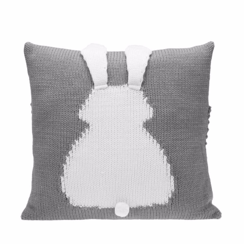 Lovely Cartoon 3D Rabbit Kids Chair Seat Cushion Cover Baby Knitted Sofa Bed Decorative Pillowcase Photography Props baby pillow