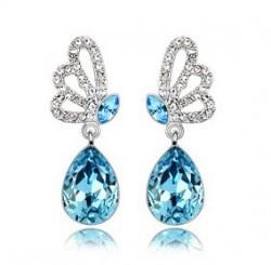 Elegant Alloy With Crystal Women's Earrings 4