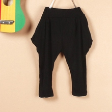 Baby Kid Toddle Baggy Harem Trousers Girl Child Slim Pencil Cropped Pants Bottom
