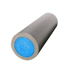JHO-GRID FOAM MASSAGE ROLLER 45cm FITNESS REHAB INJURY PILATES YOGA EXERCISE -Grey & Blue