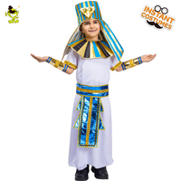 Boy's Arabian Prince Costumes Kid's Arab Arabian Prince Cosplay Costume With Hat Boy Arab Prince King Performance Arabian Suit