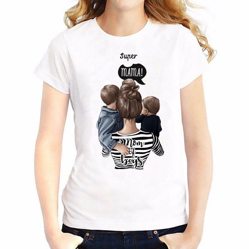 Super Mom T Shirt Women Mother's Love Print White T-shirt Harajuku Mama TShirt Vogue Tops Tee Shirt Femme Vogue Summer Camiseta