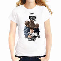 Super mamá camiseta mujer amor estampado blanco camiseta Harajuku Mama camiseta Vogue Tops camiseta mujer Vogue verano Camiseta