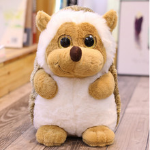 cute big eyes plush hedgehog toy stuffed cartoon animal soft doll pillow kids toys birthday gift for children(China)