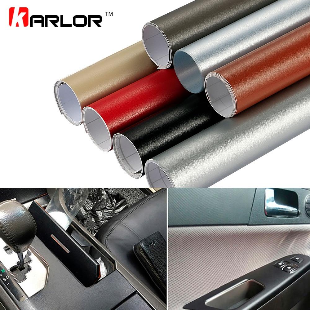 30*100cm Leather Pattern Adhesive PVC Vinyl Film Sticker Auto Car Internal External Decoration Vinyl Wrap Decal Car-Styling