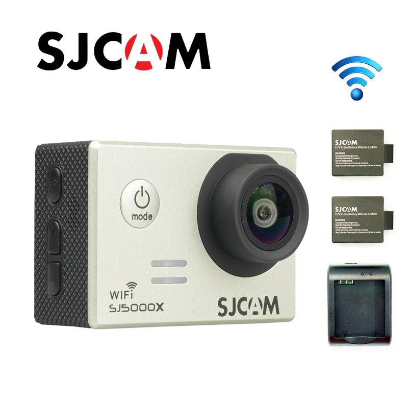 Livraison gratuite!! Original SJCAM SJ5000X Elite WiFi 4 K 24fps plongée 30 M étanche Action caméra + supplémentaire 2 pièces batterie + chargeur de batterie