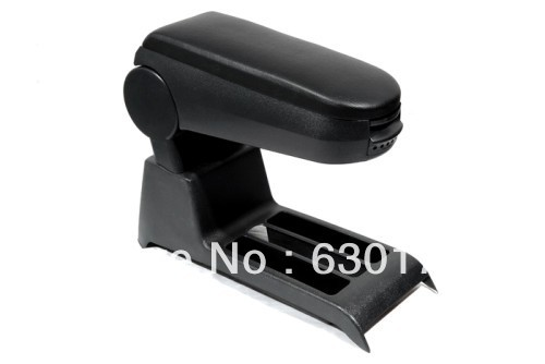 Center Console Armrest (Leatherette Black) For VW Volkswagen Polo 9N 9N3
