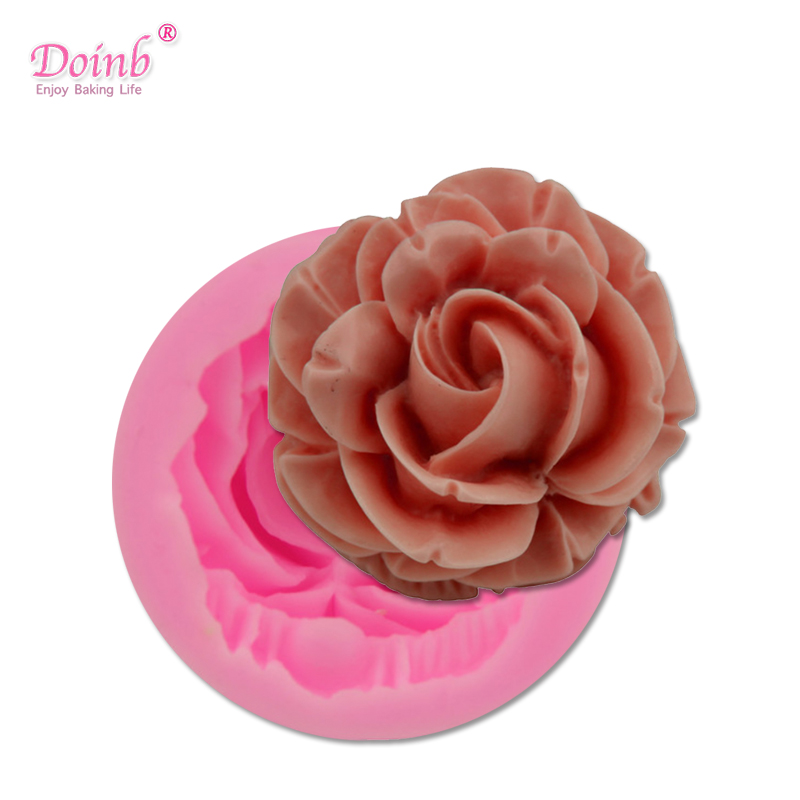 Bloom Rose Silicone Cake Mold 3D Flower Fondant Mold Cupcake Jelly Candy Chocolate Decoration Baking Tool Moulds FQ2825 1