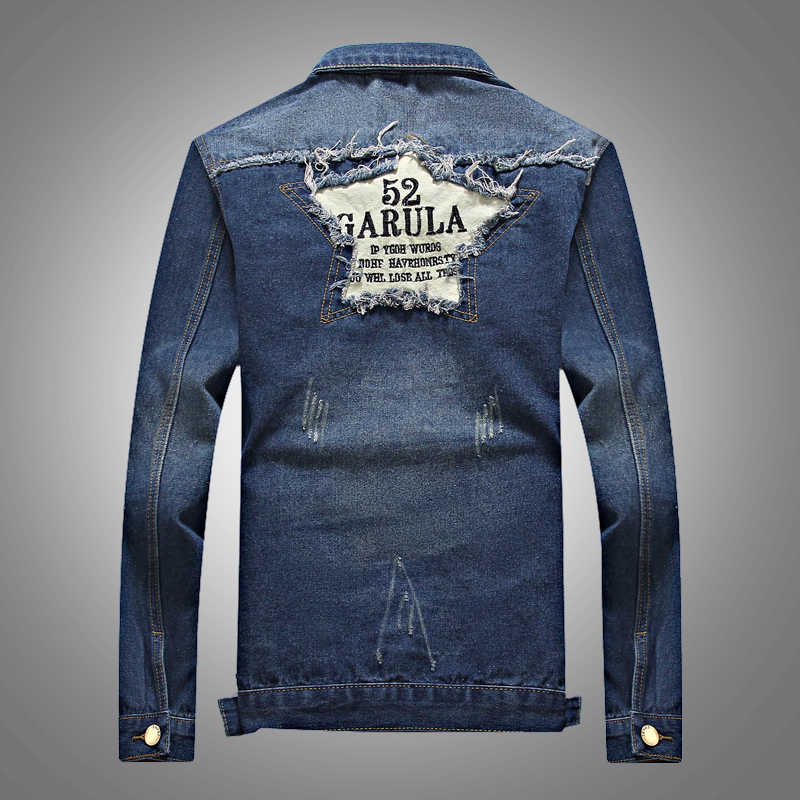 2017新しい到着メンズデニムジャケットヒップホップメンズジャンジャケットコートストリートカウボーイメンズジャケットとコートサイズ3xl