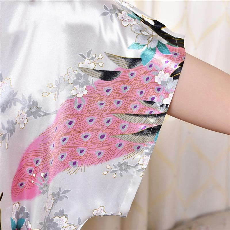 8c737a53c Mulheres grávidas Mulheres Sexy Robe de Seda Quimono Robes Pijamas Camisola  Vestido de Noiva Curto De Cetim Mulheres Roupão Pijamas De Maternidade em  Sono ...