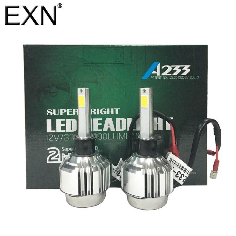 A233 H1 66W 6000LM Pair Of LED Headlight H1 Car LED Headlamp DRL Fog Light Fog