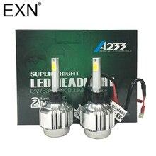 A233 H1 66 Вт 6000LM пара светодиодные фары H1 светодиодные фары автомобиля DRL противотуманные лампа с вентилятором играть и вилки светодиодные фары лампы H1