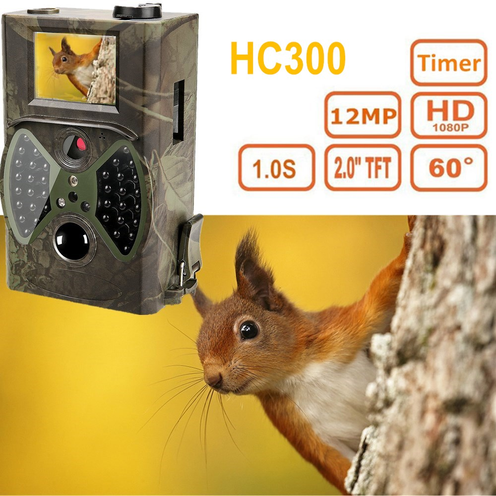 HC300A Hunting Camera 12MP Wildlife Surveillance Infrared HD Motion Detection 940NM Night Vision Scouting hunter Trail Camera hunting camera 940nm 12mp photo traps infrared night vision motion detection outdoor wildlife trail cameras trap no lcd screen