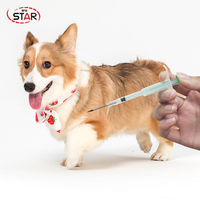 (80pcs) 1.4*8mm Disposable 134.2KHz Iso Fdx b animal microchip pet microchip Injector Rfid Veterinary Transponder dog Syringe