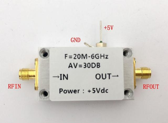 Dykb LNA 20MHZ to 6GHZ 30dB Low Noise Amplifier RF for HF VHF/UHF antenna  fm car Radio receiver Repeater Spectrum