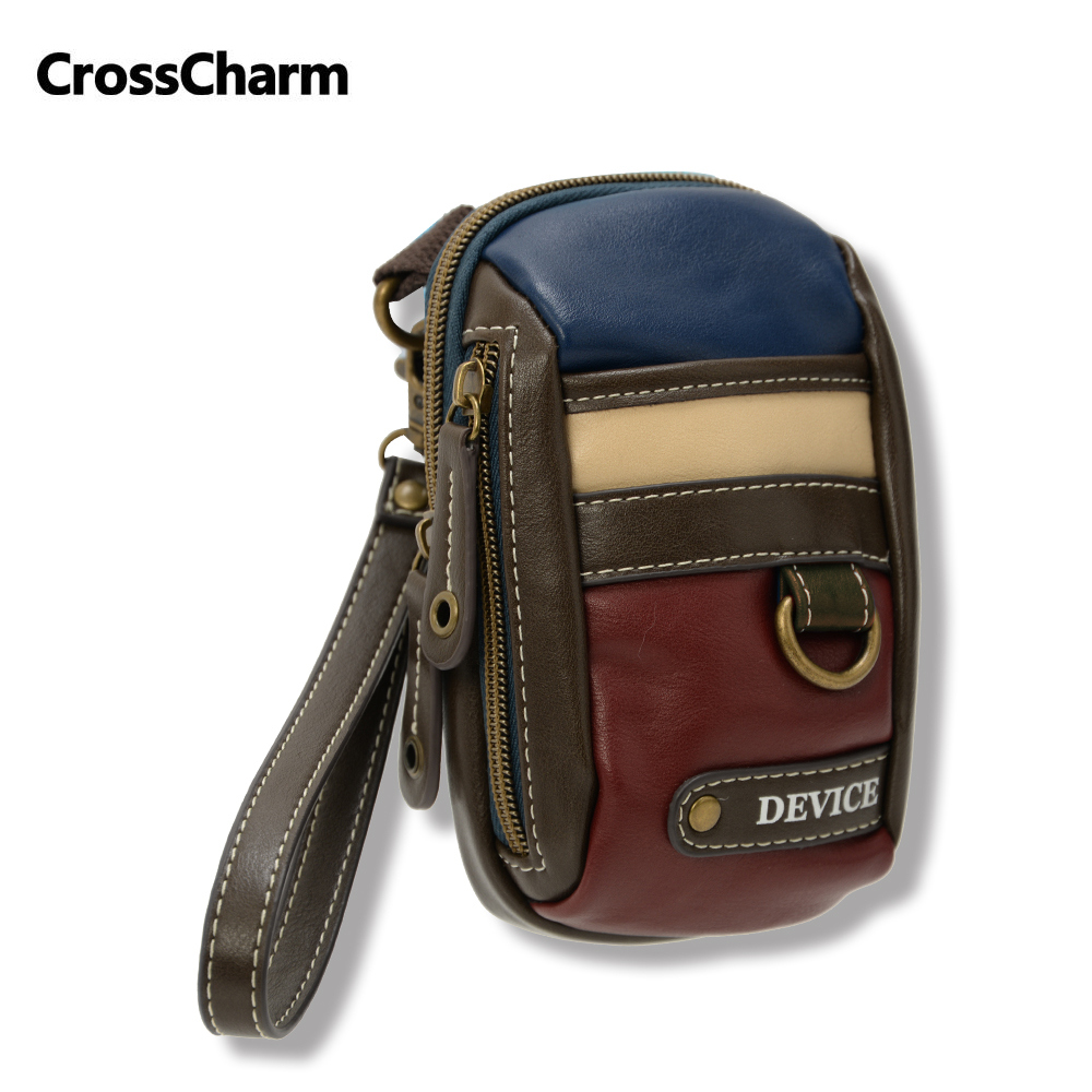 d8e1e7b349 Crosscharm Brand Men Leather Handbag Travel Fanny Waist Pack Pouch Satchel  Sling Messenger Crossbody Bags MINI