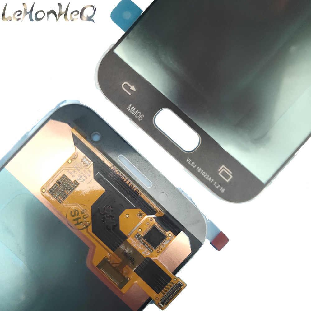لسامسونج غالاكسي A3 2017 A320 A320F A320M A320Y LCD عرض الهاتف مجموعة المحولات الرقمية لشاشة تعمل بلمس السطوع استبدال